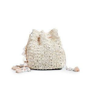 KAYU straw bucket bag